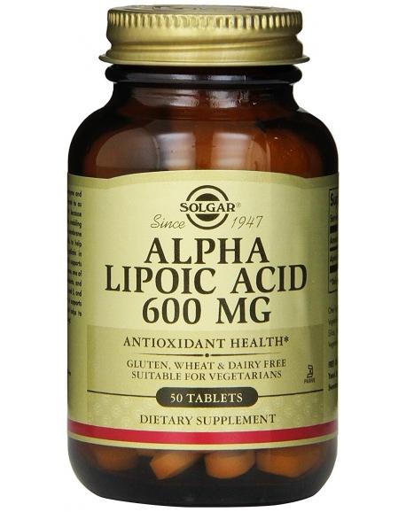 Solgar - Альфа-липоевая кислота, 600 мг, 50 таблеток