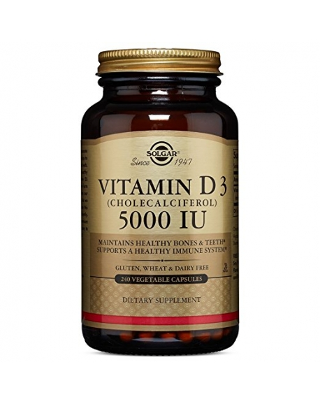 Solgar Vitamin D3 - Витамин D3 холекальциферол 5000 МЕ 100 мягких гелевых капсул