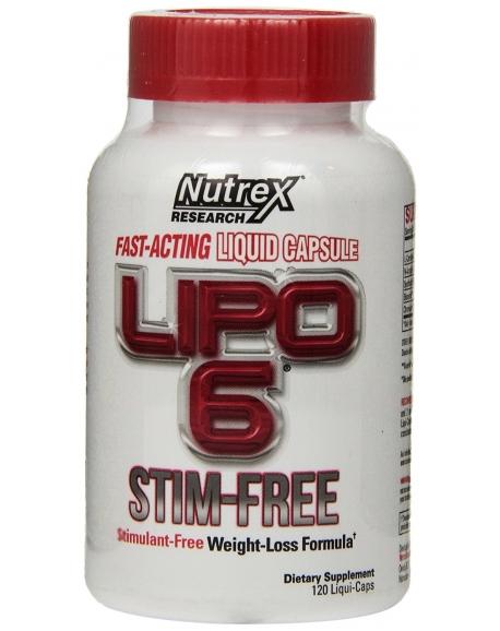 Nutrex Lipo 6 Stim-Free  (120 капс)