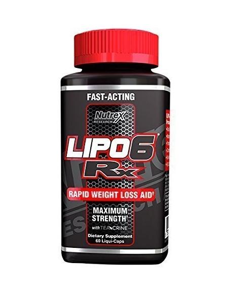 Nutrex Research Labs, Lipo-6 RX - Быстрая потеря веса, максимальная эффективность, 60 жидких капсул