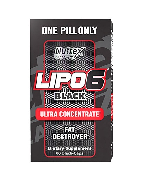 Nutrex Research Labs, Lipo 6 - Черный ультра-концентрат, 60 черных капсул